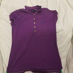 Ralph Lauren Girls Polo Shirt Size Med. 8-10 NWT